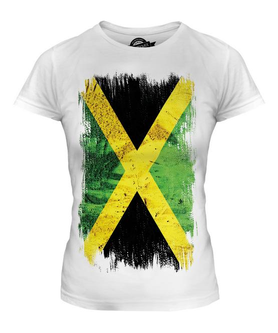 La jamaïque grunge drapeau t-shirt homme tee top jamaican shirt football jersey cadeau