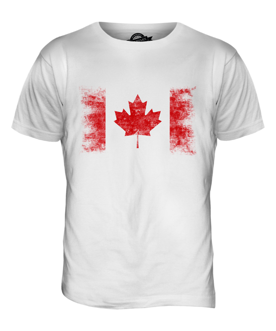 CANADA DISTRESSED FLAG UNISEX HOODIE TOP CANADIAN FOOTBALL JERSEY GIFT