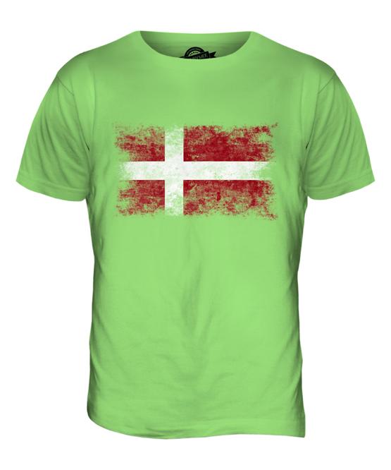 T-shirt Bandiera Danese scelta della taglia e colori,