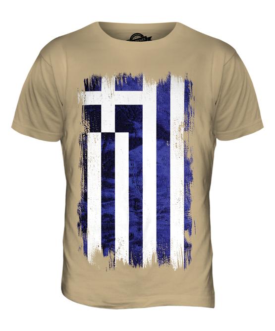 ca2447ddc GREECE GRUNGE FLAG MENS T-SHIRT TEE TOP HELLAS GREEK ELLADA HELLENIC ...