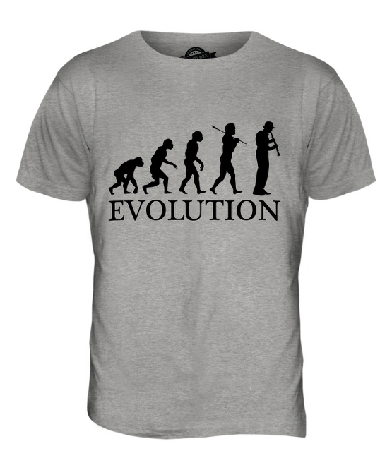 c6307e8ec CLARINET PLAYER EVOLUTION OF MAN MENS T-SHIRT TEE TOP GIFT MUSICIAN ...