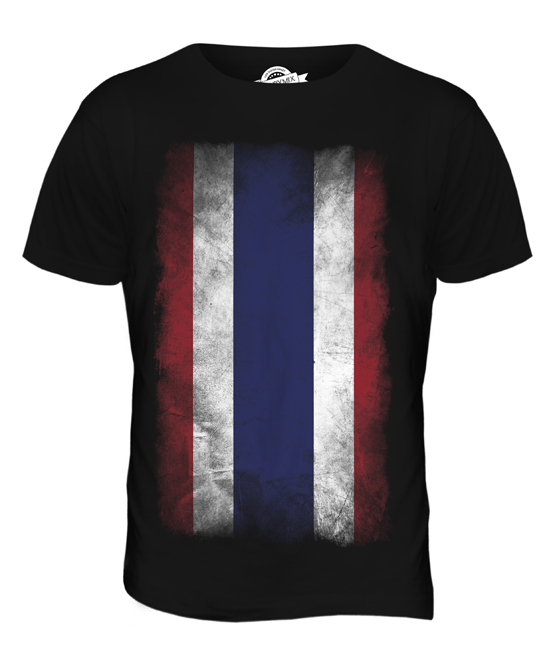 Thailandia-Faded-Flag-T-Shirt-Uomo-Tee-Top-mueang-THAI-ratcha-anachak-prathet