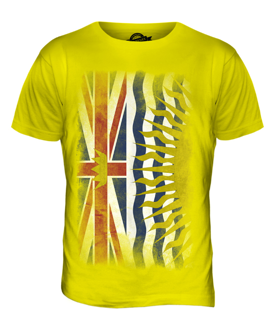 British-Columbia-se-desvanecio-Bandera-Para-hombres-Camiseta-Camiseta-Top-Camisa-britanico-Columbian
