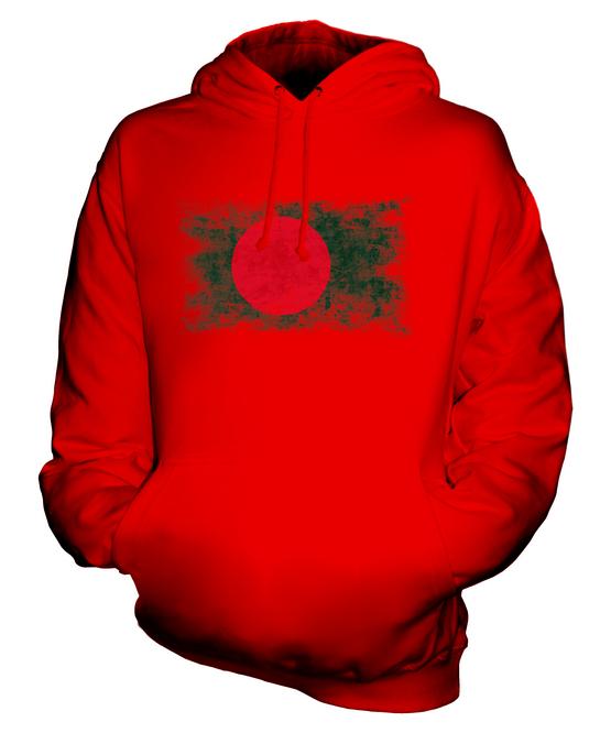 Bangladesh-EFFETTO-INVECCHIATO-FLAG-Unisex-Felpa-Con-Cappuccio-Top-Calcio-bengalese-Regalo