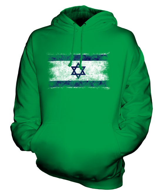 ISRAEL GRUNGE FLAG UNISEX SWEATER TOP YISRAEL ISRAELI ISR?/'?L SHIRT FOOTBALL