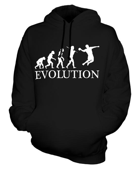 HANDBALL EVOLUTION OF MAN UNISEX HOODIE MENS WOMENS LADIES GIFT CLOTHING