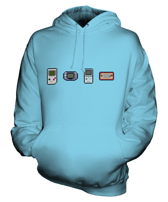 GAMING EVOLUTION UNISEX HOODIE TOP GIFT RETRO