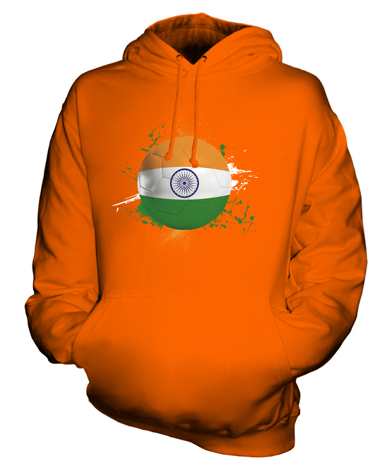 INDIA FOOTBALL UNISEX HOODIE TOP GIFT WORLD CUP SPORT