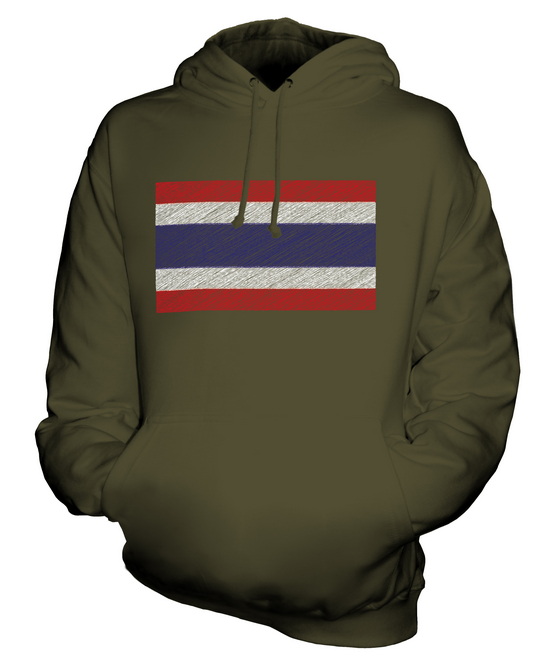 THAILAND SCRIBBLE UNISEX FLAG UNISEX SCRIBBLE HOODIE TOP GIFT MUEANG THAI PRATHET 7ace22