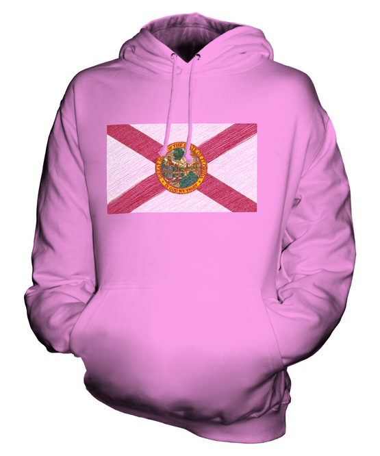 FLORIDA STATE SCRIBBLE FLAG UNISEX HOODIE TOP GIFT FLORIDIAN FOOTBALL