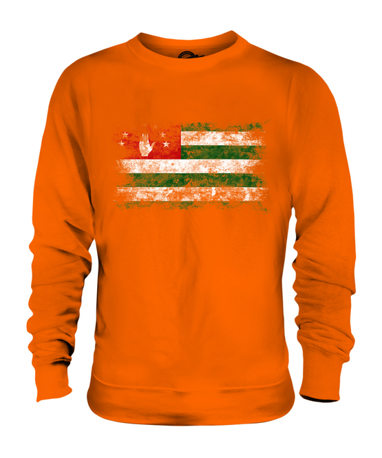 ABKHAZIA DISTRESSED FLAG UNISEX SWEATER SWEATER SWEATER TOP APSNY ABKHAZ ABKHAZIYA ABKHAZIAN 212482