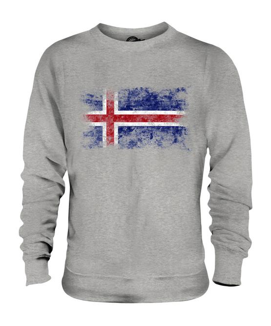 quelques Football Islandais Cadeau Shirt Islande Délavé Drapeau Unisexe Pull Top