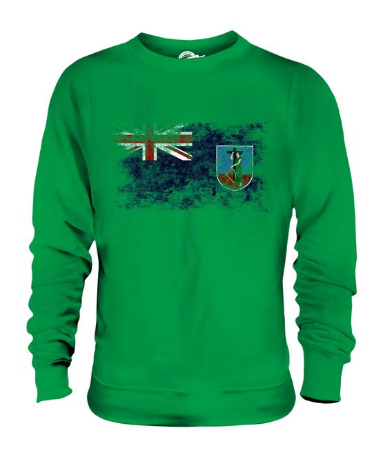 MONTSERRAT DISTRESSED FLAG UNISEX SWEATER CLOTHING TOP MONTSERRATIAN SHIRT CLOTHING SWEATER GIFT 388677
