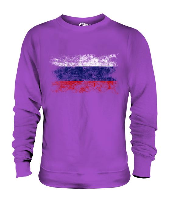 La Russie vieilli Drapeau Unisexe à Capuche Haut Rossiya Russie Rossia Cadeau Football