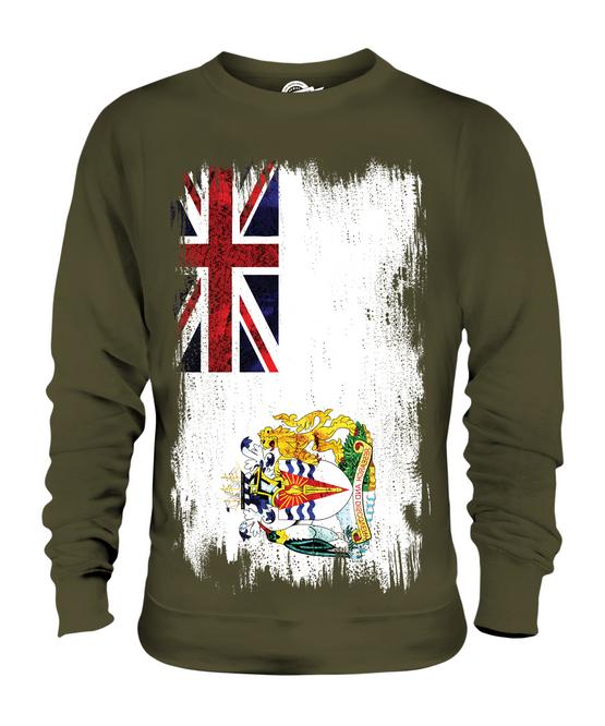 BRITISH ANTARTIC TERRITORY GRUNGE FLAG UNISEX SWEATER TOP FOOTBALL FOOTBALL FOOTBALL GIFT SHIRT d9ec3a