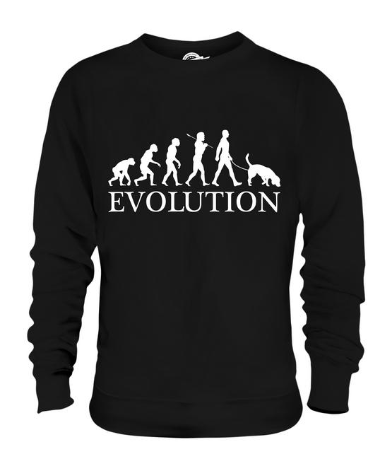 Maglione Cani Uomo Umana Donna Unisex Evoluzione Amanti