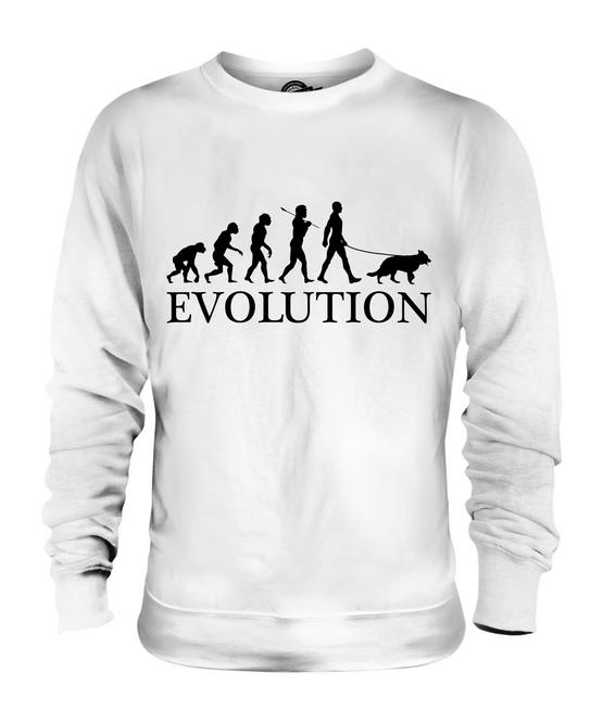 GERMAN SHEPHERD EVOLUTION OF MAN UNISEX SWEATER MENS WOMENS DOG LOVER GIFT