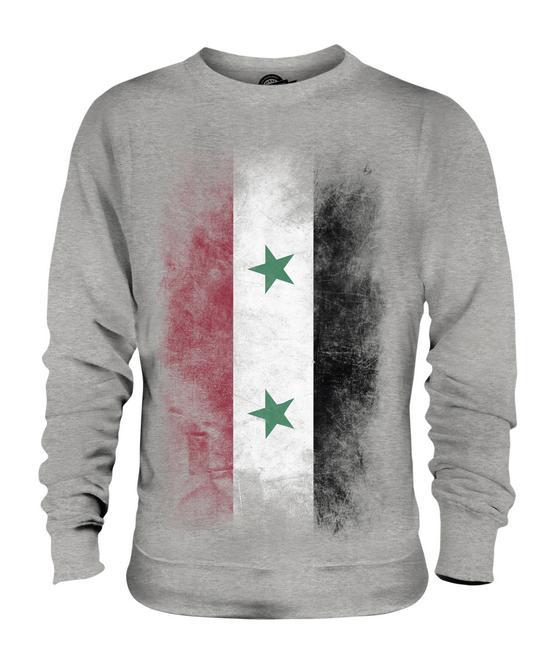 SYRIA FADED FLAG UNISEX SWEATER TOP SURIYAH FOOTBALL SYRIAN SYRIAN SYRIAN GIFT SHIRT 976fda