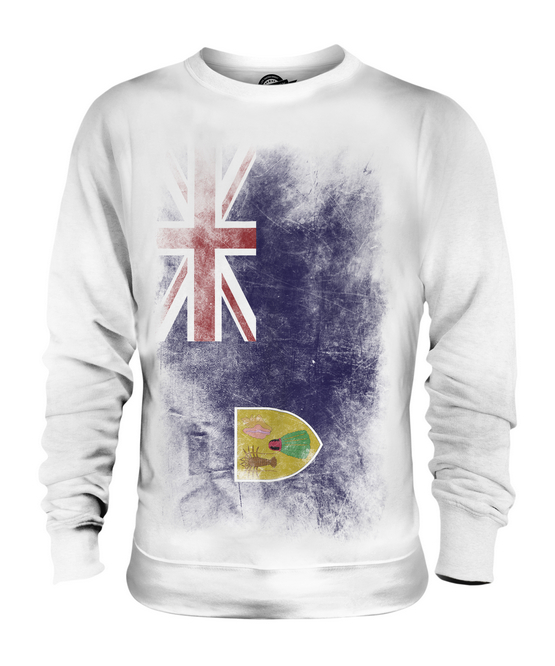 TURKS AND CAICOS ISLANDS FADED FLAG UNISEX SWEATER TOP GIFT SHIRT