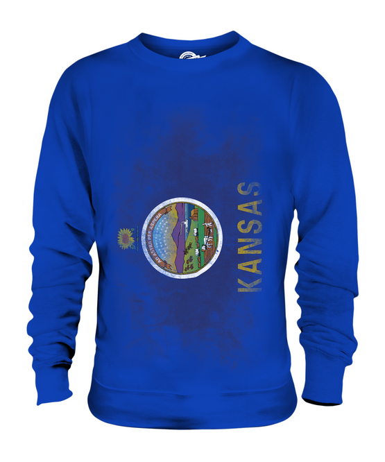 KANSAS STATE FADED FLAG UNISEX SWEATER TOP KANSAN SHIRT JERSEY GIFT GIFT JERSEY ce6546