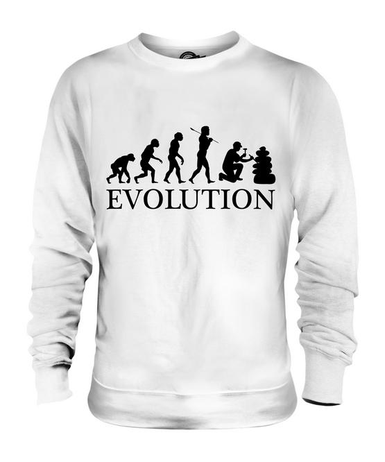 KLARINETTE EVOLUTION DES MENSCHEN UNISEX SWEATER PULLOVER PULLI HERREN DAMEN