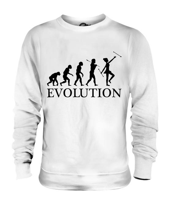 BATON TWIRLER EVOLUTION OF MAN UNISEX HOODIE MENS WOMENS LADIES GIFT TWIRLING