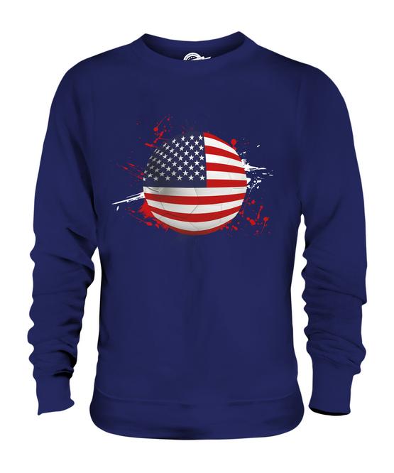 USA USA USA FOOTBALL UNISEX SWEATER  TOP GIFT WORLD CUP SPORT e45e23