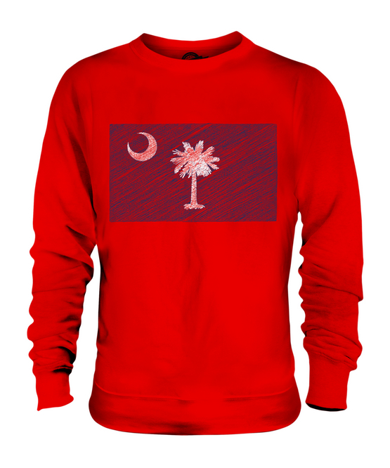 SOUTH CAROLINA SCRIBBLE SCRIBBLE SCRIBBLE FLAG UNISEX SWEATER  TOP GIFT SOUTH CAROLINIAN FOOTBALL 0c107c