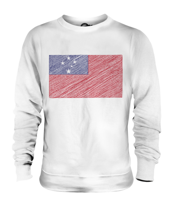 SAMOA SCRIBBLE FLAG UNISEX SWEATER  TOP GIFT SAMOAN FOOTBALL