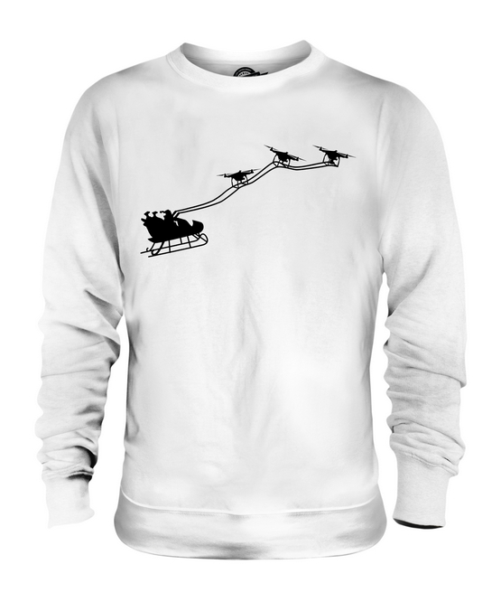 DRONE SANTA UNISEX SWEATER  TOP GIFT CHRISTMAS CLAUSE