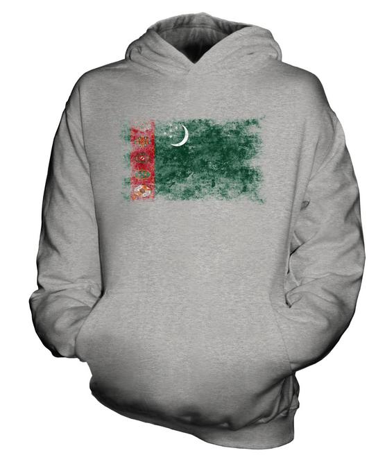 Indexbild 4 - TURKMENISTAN WEINLESE FLAGGE KINDER KAPUZENPULLOVER HOODIE JUNGEN MÄDCHEN
