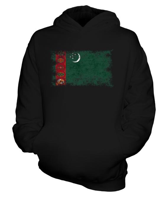 Indexbild 3 - TURKMENISTAN WEINLESE FLAGGE KINDER KAPUZENPULLOVER HOODIE JUNGEN MÄDCHEN