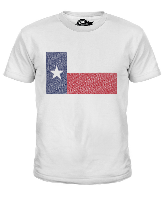 f6694724 Details about TEXAS STATE SCRIBBLE FLAG KIDS T-SHIRT TEE TOP GIFT TEXAN  FOOTBALL